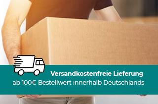 Versandkostenfreie Lieferung ab 100€ Bestellwert innerhalb Deutschlands
